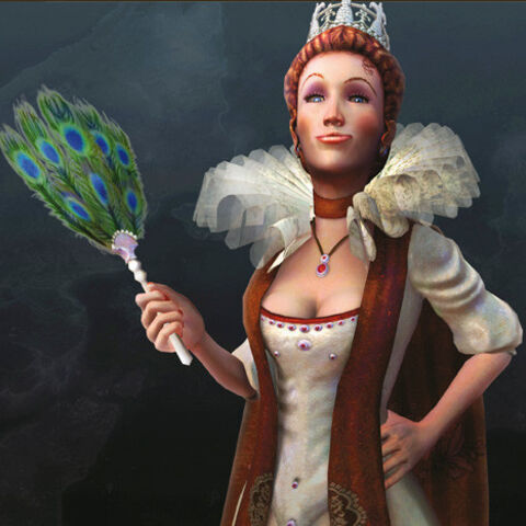 Elizabeth I as she appears in the DS version of the game