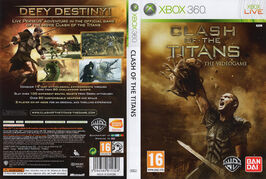 Clash of the Titans The Videogame X-Box 360 covers