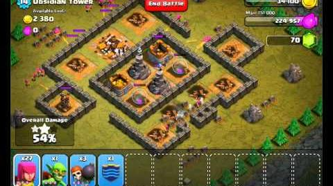 Clash of Clans Level 27 - Obsidian Tower