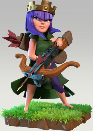 Bogenschützen-Königin | Clash of Clans Wiki | FANDOM