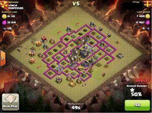 Clan war balloon attack