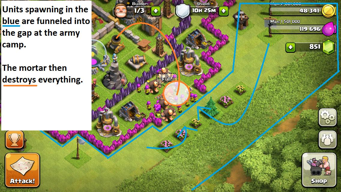 Advanced base defense clash of clans wiki fandom powered by wikia