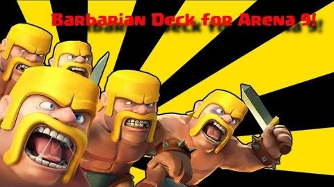 Best Barbarians Deck in Arena 8 & 9!! ♥ Clash Royale