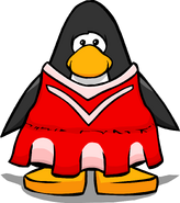 Red Cheerleader Outfit from a Player Card
