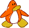 Doodle Dimension penguin Orange