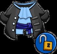 Unlockable Gray Pirate Coat