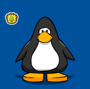 Puffle Guide Badge Pin on a Player Card