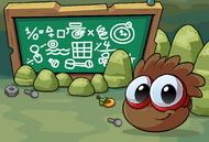 Brown Puffle postcard icon