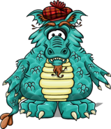 Loch Ness Costume from a Player Card