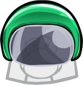 Green Bobsled Helmet