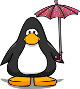 Polka Dot Umbrella Player Card