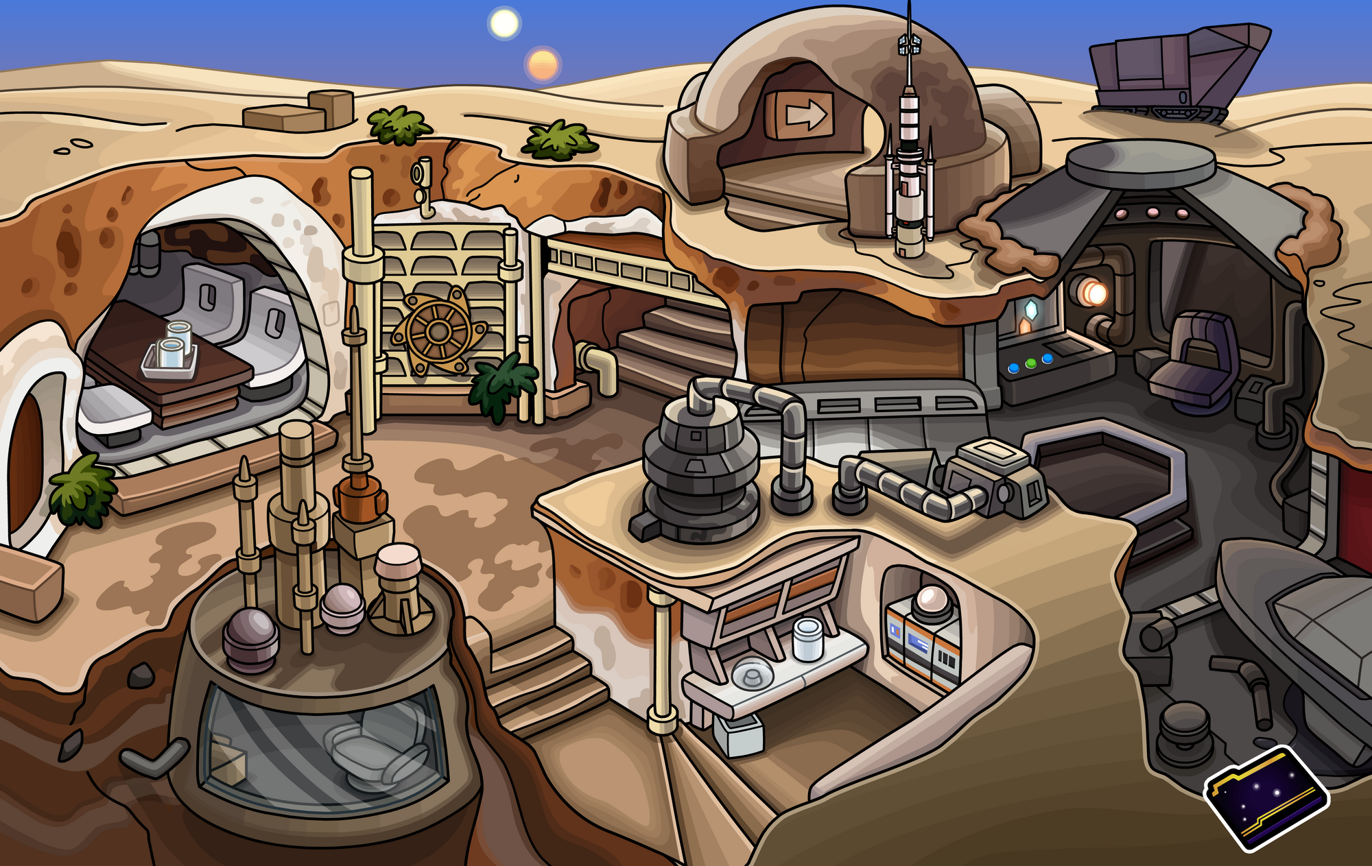 Star Wars Floor Plans Lars Homestead Club Penguin Wiki Fandom Powered By Wikia