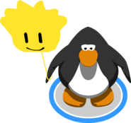 Gold Puffle Balloon in-game