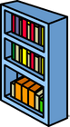 Blue Bookshelf sprite 006