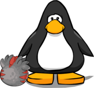 Black and Red T-rex Puffle Egg PC