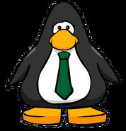 Green Necktie on a Player Card