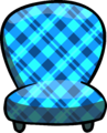 Custom Furniture (Blue Chair with Plaid)