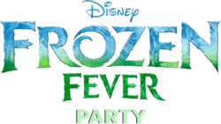 Frozen Fever Party Logo Cutout