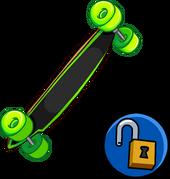 Neon Green Longboard clothing icon ID 15215