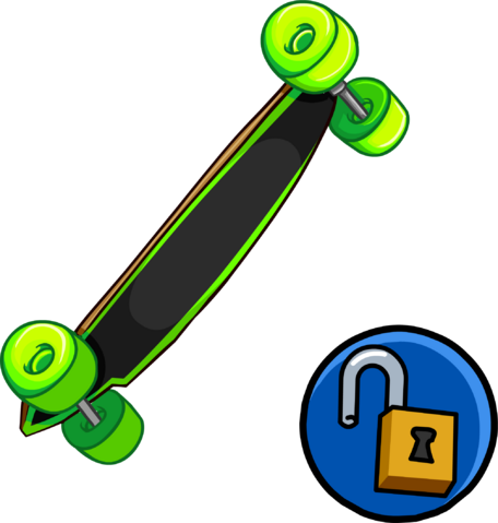 File:Neon Green Longboard clothing icon ID 15215.png