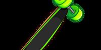 Neon Green Longboard
