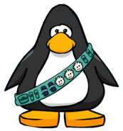 Puffle Care Sash from a Player Card