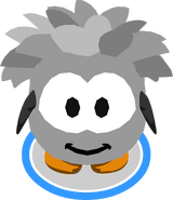 Grey Puffle Costume in-game