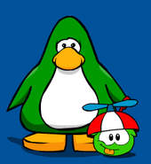 Green Puffle on Player Card