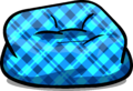 Custom Furniture (Blue Beanbag Chair with Plaid)
