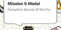 Mission 5 Medal stamp