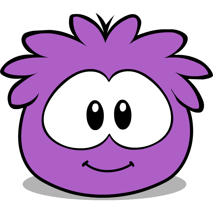 How To Draw A Puffle From Club Penguin a purple puffle named Pop