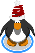 Springy Santa Hat In-Game