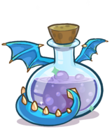 Medieval 2013 Potions Blue Puffle Dragon