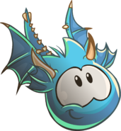 Blue Puffle Dragon