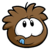 Brown Puffle Pin icon