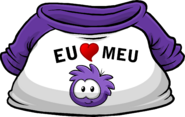 I Heart My Purple Puffle T-Shirt icon pt