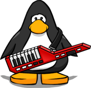 Keytar from a Player Card