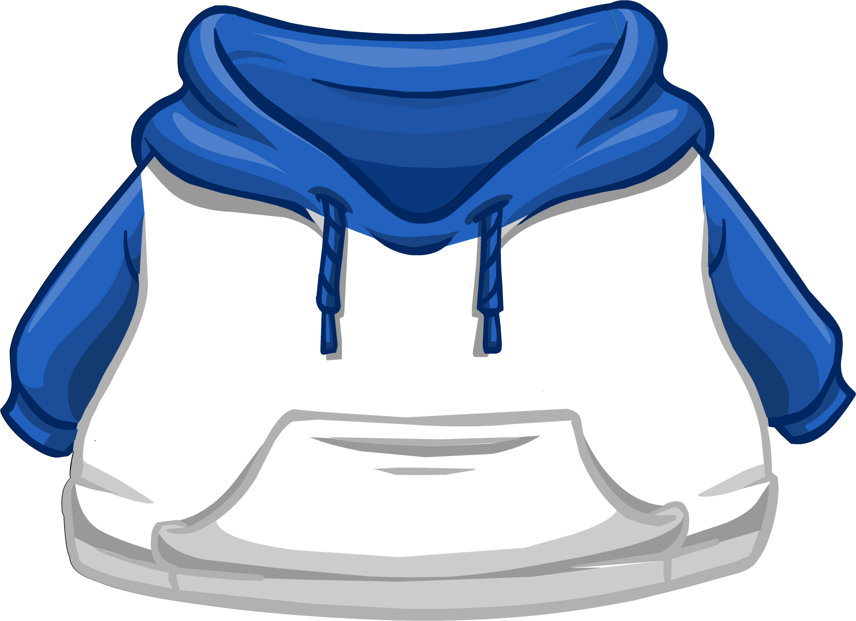 Blue and White Two-tone Hoodie | Club Penguin Wiki | Fandom ...