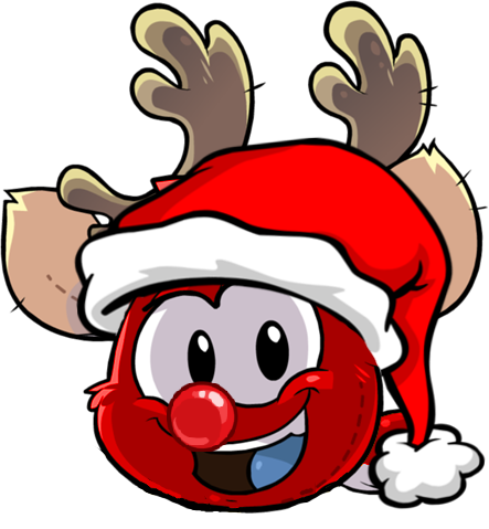 File:The Puffle Planet Reindeer 2 Red Nose.png