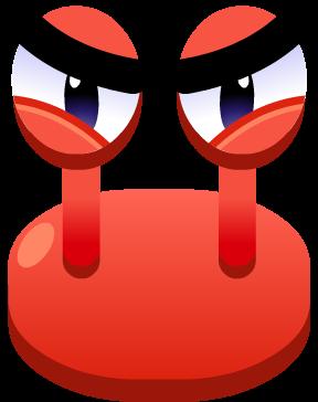 Emoji Angry Crab