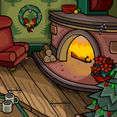 Cozy Fireplace Background clothing icon ID 9176