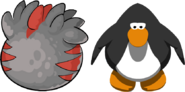 Black and Red T-rex Puffle Egg IG