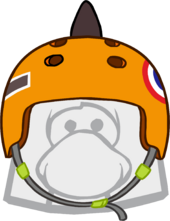 Orange Skate Spike Helmet icon