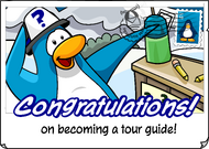 Congratulations Tour Guide postcard