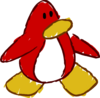 Doodle Dimension penguin Red