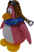 Sled Racer Penguin Model Peach