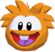 Orange puffle 3d icon