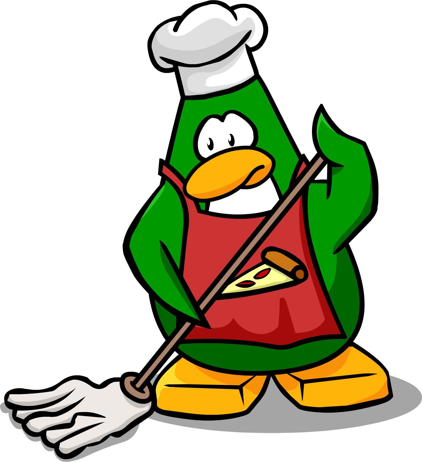 Guy Cleaning Kitchen: Image - Pizza Chef Mopping.png