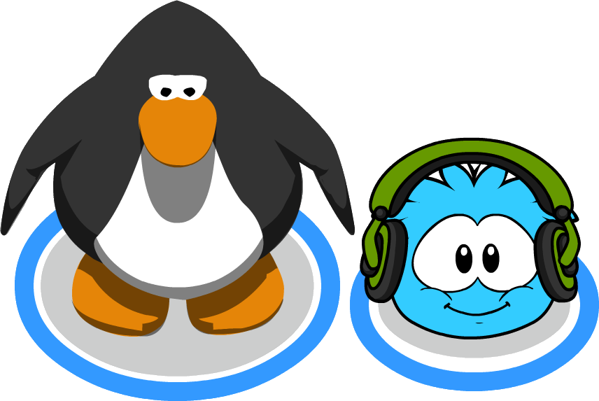 Puffle Headphones with Penguin In-game