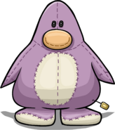 Penguin Stuffie Costume from a Player Card
